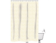 Briscoes NZ Just Home Shower Curtain Speckle White/Gold 180x180cm