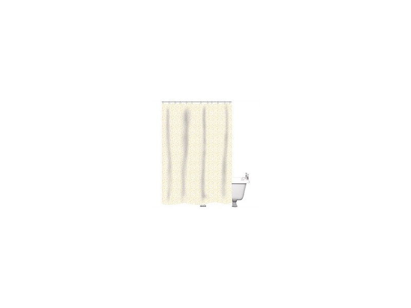 Just Home Shower Curtain Speckle White/Gold 180x180cm