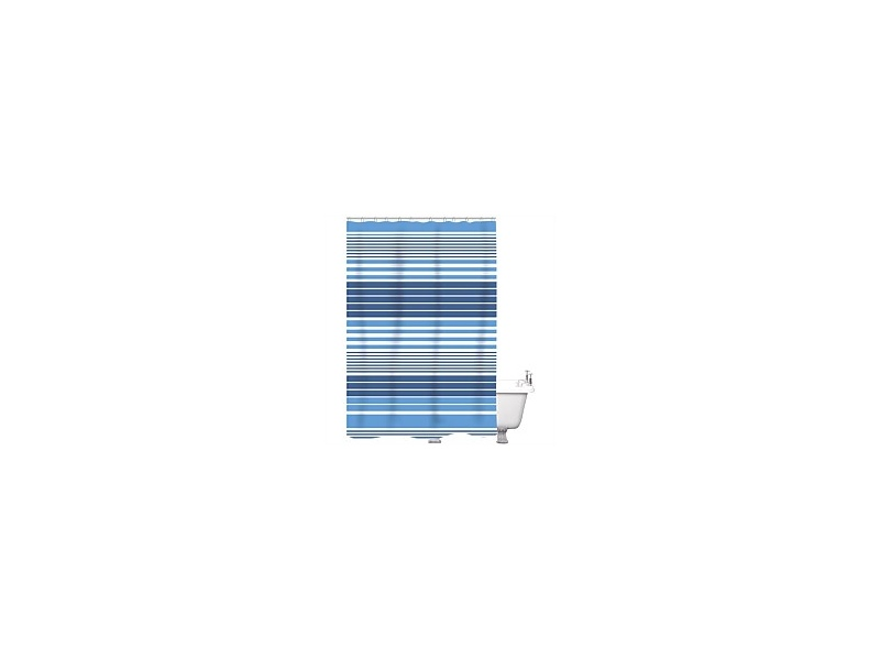 Just Home Shower Curtain Gilly Blue 180x180cm