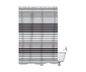 Just Home Shower Curtain Gilly Black 180x180cm