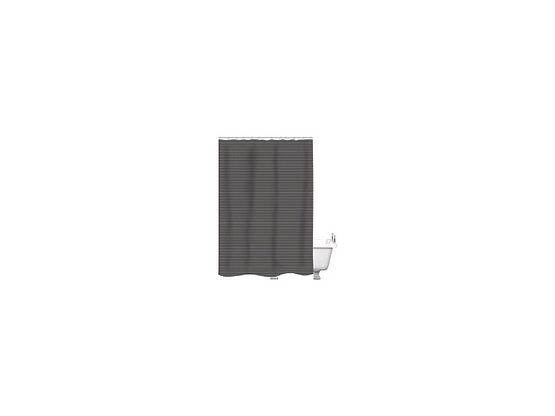 Just Home Shower Curtain Skylar Charcoal 180x180cm
