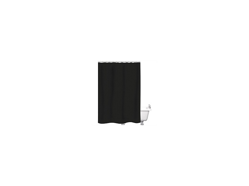Just Home Shower Curtain Raute Black 180x180cm