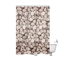 Just Home Shower Curtain Pebbles Multi 180x180cm