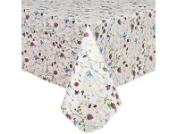 Briscoes NZ Just Home Flannelback Tablecloth Spring Time 132x228cm