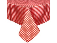 Briscoes NZ Just Home Gingham Red Tablecloth 150x260cm