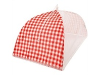 Briscoes NZ Just Home Gingham Red Food Umbrella 30x50cm