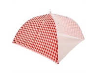 Briscoes NZ Just Home Gingham Red Food Umbrella 51x51cm