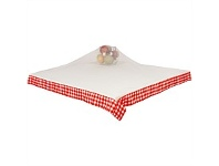 Briscoes NZ Just Home Gingham Red Food Cover 140x140cm