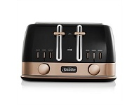 Briscoes NZ Sunbeam New York Toaster Black/Gold 4 Slice TA4440KB