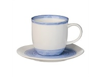 Briscoes NZ Arthouse Tide Blue Cup & Saucer 220ml