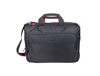Briscoes NZ Delsey Parvis Breifcase Satchel 2 Compartments Black