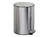 Briscoes NZ Zip Deluxe Refuse Bin Stainless Steel 5 Litre