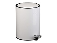 Briscoes NZ Zip Deluxe Refuse Bin White 12Litre