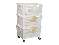 Briscoes NZ Tontarelli Eva Storage Trolley Cream 3 Tier