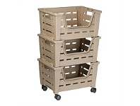 Briscoes NZ Tontarelli Eva Storage Trolley Brown 3 Tier