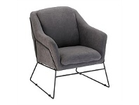 Briscoes NZ Saloon Occasional Chair Charcoal
