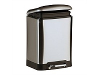 Briscoes NZ Zip Classic 12L Rect Pedal Bin Brushed Stainless Steel