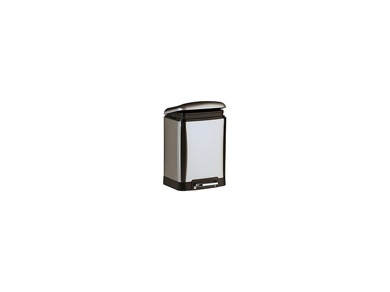 Zip Classic 12L Rect Pedal Bin Brushed Stainless Steel