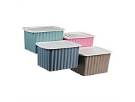 Briscoes NZ Koopman Pastel Storage Box Med with Lid Assorted