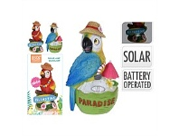Briscoes NZ Parrot D?cor with Solar Lamp Assorted