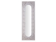 Briscoes NZ Panelled Rectangle Wall Mirror White Wash 50cm