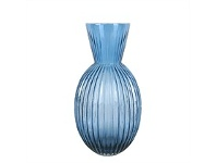 Briscoes NZ Urban Loft Venetian Tall Blue Vase 24cm