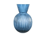 Briscoes NZ Urban Loft Venetian Short Blue Vase 17cm