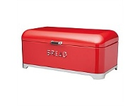 Briscoes NZ KitchenCraft Lovello Bread Bin Red 42x22x19cm