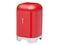 Briscoes NZ KitchenCraft Lovello Tea Canister Red 11x18cm 1.5L
