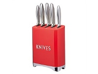 Briscoes NZ KitchenCraft Lovello Knife Set Gift Boxed 5 Piece Red