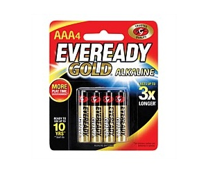 Eveready Gold AAA 4pk A92BP4