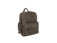 Briscoes NZ National Geographic Washed Canvas Backpack Green