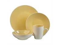 Briscoes NZ Thomson Luna Yellow Dinnerset 16 Piece