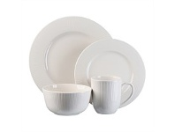 Briscoes NZ Thomson Pinstripe White Dinnerset 16 Piece