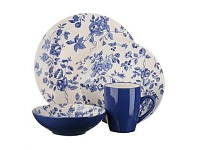 Briscoes NZ Thomson Laura Blue Dinnerset 16 Piece