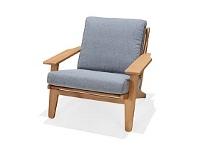 Briscoes NZ Coastal Classic Stockton Outdoor Sofa Chair Mulberry Finish