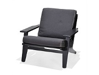 Briscoes NZ Coastal Classic Stockton Outdoor Sofa Chair Black Finish