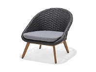 Briscoes NZ Amalfi Ludlow Outdoor Sofa Chair Black Weave