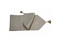 Briscoes NZ Essential Collection Millie Taupe Tablerunner 33x150cm