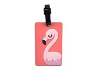 Briscoes NZ Hopscotch Flamingo Luggage Tag Pink