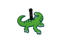 Briscoes NZ Hopscotch Dinosaur Luggage Tag Green