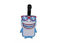Briscoes NZ Hopscotch Shark Luggage Tag Blue