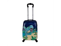 Briscoes NZ Hopscotch ABS Cabin Trolleycase Dinosaur Blue