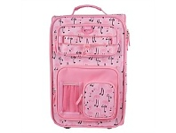 Briscoes NZ Hopscotch Soft Cabin Trolleycase Flamingo Pink 50cm