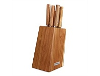 Briscoes NZ Simon Gault Acacia Hard Wood Knife Block