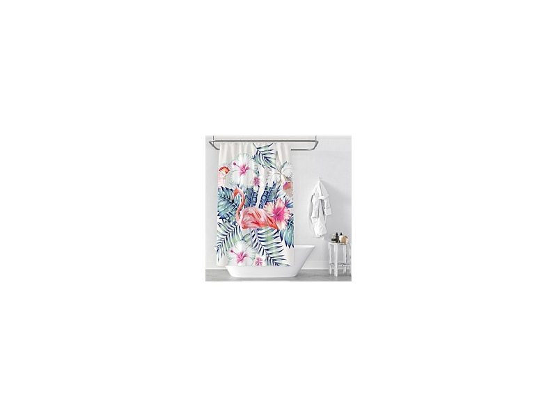 Cloud9 Flamingo Shower Curtain 120x180cm