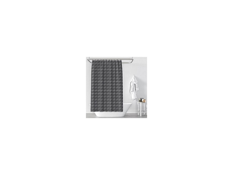 Cloud9 Grid Shower Curtain 120x180cm