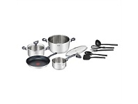 Briscoes NZ Tefal Daily Cook Stainless Steel Cookware Set 11 Piece