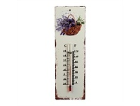 Briscoes NZ Lavender Basket Iron Wall Thermometer 8x25cm