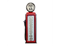 Briscoes NZ Route 66 Gas Pump Iron Wall Thermometer 15x47.5cm